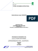Informe Proyecto Final Dinamica Estructural