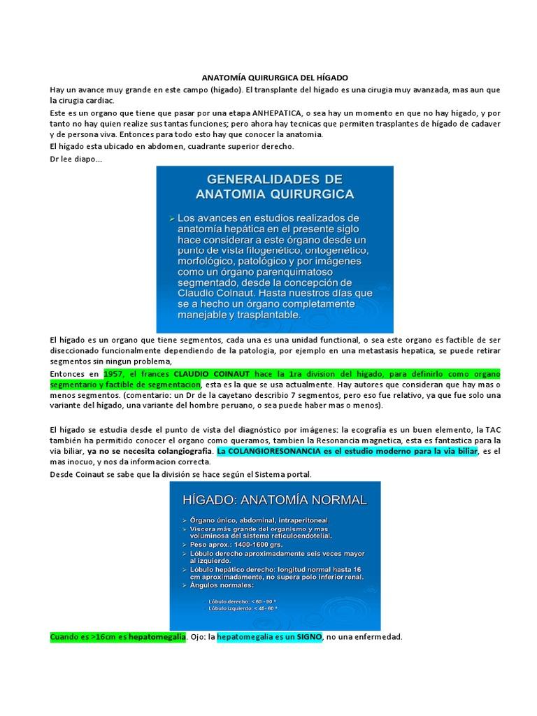Anatomia Quirurgica Del Higado Completo