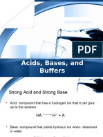 Acids Bases and Buffers - 2008