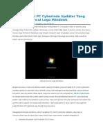 Memperbaiki PC Cyberindo Updater Yang Hanya Muncul Logo Windows