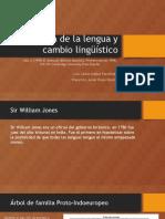 Historia de La Lengua y Cambio Lingüístico