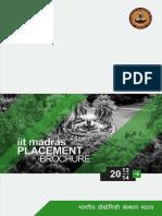 IITM Placement Brochure 2013-14