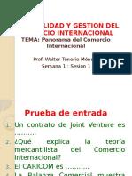 Sesion 1 - Panorama Del Comercio Internacional