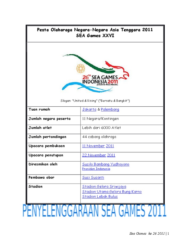 Sea Games 2011 (Repaired)