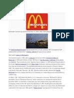 History of mc donals