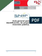 2. Identificacion de Proyectos Sociales Metodologia SNIP