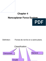 Noncoplanar Force System