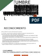 Costumbre Como Fuente de Derecho Internacional
