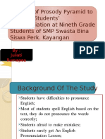 The Use of Prosody Pyramid to Improve Students1
