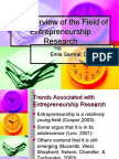 Trends Associated With Entrepreneurship Research