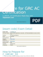 Prepparation Guideline to Crack SAP GRC AC 10 Certification