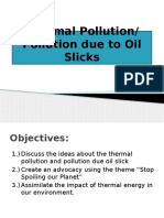 Thermal Pollution, Pollution Due to Oilslick
