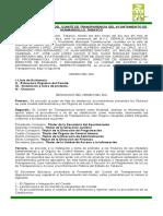 Acta de Instalacion Del Comite de Transparencia.