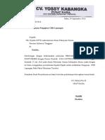 Surat CBR KOntumere