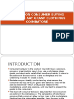 A Study on Consumer Buying Behavior Aat Grasp