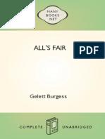 - Gelett Burgess -1906- All's Fair