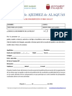 CLASES de AJEDREZ - Formulario Definitivo 16-17