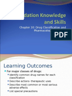 Drug Classification and Pharmacologic Actions
