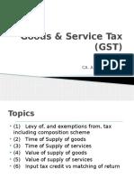 Goods & Service Tax (GST)