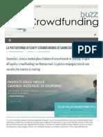 2016, Aprile - Crowdfundingbuzz