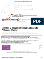 Essentials of Machine Learning Algorithms (With Python and R Codes)