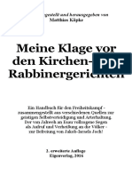 Köpke, Matthias - Meine Klage vor den Kirchen- und Rabbinergerichten; Eigenverlag, 2016,