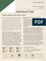 Magna Carta Newsletter June 2015