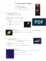 Other Solar System Objects - Notes