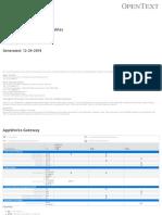 2. OpenText Product Compatibility Matrix Current Maintenance