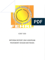 Cost 333 Interim Report on European Pavement Design Methods