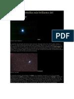 Las Diez Estrellas Más Brillantes Del Cielo