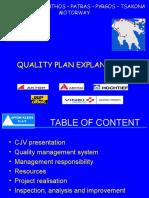 Quality Plan Presentation