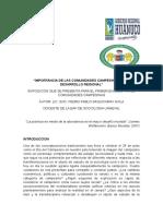 Importancia de Las Comunidades Campesinas en El Desarrollo Regional