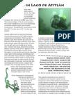 Diving in Lago de Atitlan (Ati Divers, La Iguana Perdida, Guatemala)