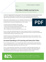 Video and Mobile Learning Survey Summary