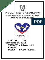 Program Penutupan Sambutan Perayaan Bulan Kemerdekaan