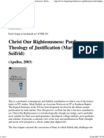 Review Seifrid, Mark, Christ Our Righteousness Paul's - Theology of Justification