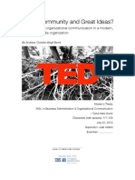 TED – Community and Great Ideas?