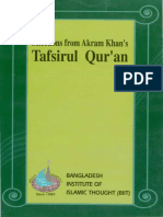 Selections From Akram Khan's Tafsirul Qur'An