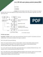 LTE UE Protocol Stack _ LTE UE User Plane,Control Plane,RRC States