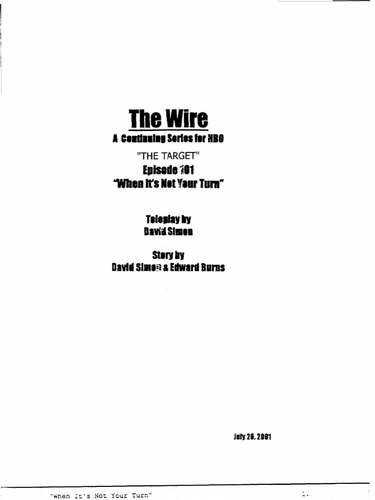 The Wire 1x01 - The Target