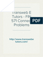 Transweb E Tutors - FIN 571 Connect Problems