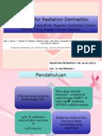 radiodermatitis jurnal.presentasi