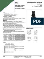 Filtro Regulador NORGREN B07202M1KA