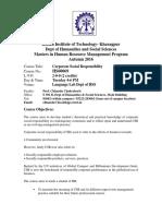 CSR Course 2016 Handout 2