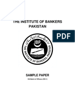 SBP BSC OG-I 6th Batch Sample Paper
