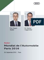 Reden Audi Pressekonferenz Automobilsalon Paris