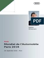 Rede Audi Sport Pressekonferenz Modial de l'Automobile Paris