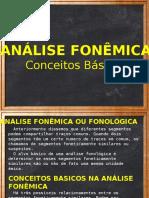 Análise Fonêmica-Conceitos Básicos