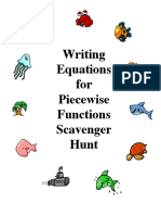 Piece Wise Function Scavenger Hunt